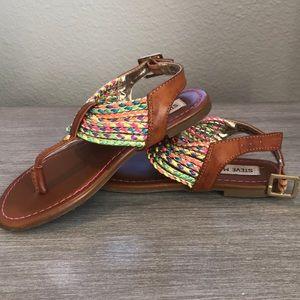 80948d135d70 Steve Madden Shoes - Girls Steve Madden leather rainbow sandals size 1